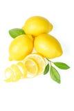 Citron et peau de citron frais Image libre de droits