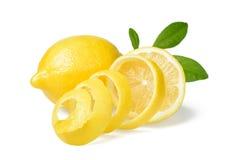 Citron et peau de citron frais Images stock
