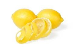 Citron et peau de citron frais Photographie stock libre de droits