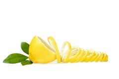 Citron et peau de citron frais Images libres de droits
