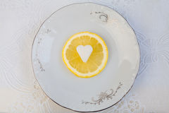 Citron frais avec du sucre photos libres de droits