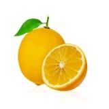 Citron frais d'isolement sur le blanc Photographie stock