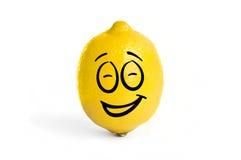 Citron frais jaune d'isolement sur le fond blanc Image stock