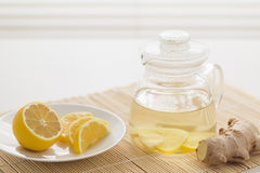 Citron Ginger Tea arkivfoto