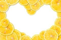 Citron i form av hjärta arkivbilder