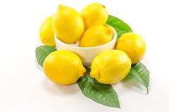 Citron jaune d'isolement Photos libres de droits