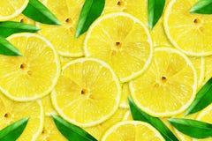 Citron juteux coup? en tranches Plan rapproch? Copiez l'espace Fruits frais Fond de fruit photo libre de droits