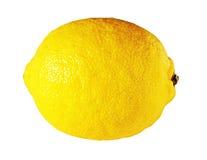 Citron juteux mûr frais d'isolement sur le blanc Images libres de droits