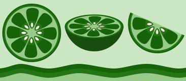 Citron - limette Images libres de droits