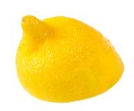 Citron mûr demi Photographie stock libre de droits
