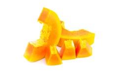 Citron mûr jaune d'isolement sur un blanc Image libre de droits