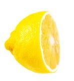 Citron mûr juteux demi Photographie stock libre de droits
