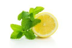 Citron med mintkaramellen arkivbild