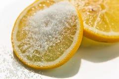 Citron med socker Royaltyfri Bild