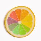 Citron multi de couleur Images libres de droits