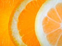 Citron- och apelsinskivor Royaltyfri Foto