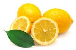 Citron och blad Arkivfoton