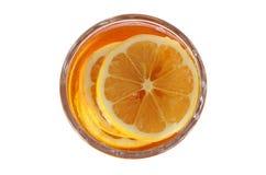 Citron och honung Arkivfoto