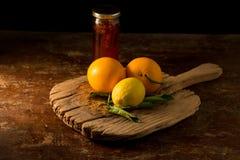 Citron och honung fotografering för bildbyråer