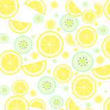 Citron och kiwi Fotografering för Bildbyråer