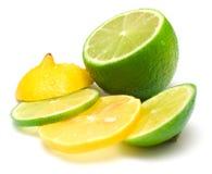 Citron och limefrukt 2 royaltyfri fotografi