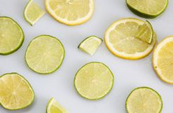 Citron och limefrukt royaltyfri fotografi