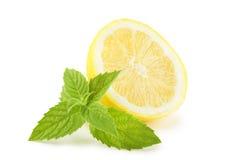 Citron och mintkaramell arkivfoton