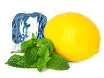 Is, citron och mintkaramell arkivbild