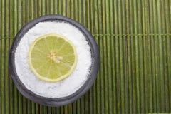 Citron och natriumbikarbonat på tabellen Royaltyfri Fotografi
