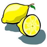 Citron och skiva Royaltyfria Bilder
