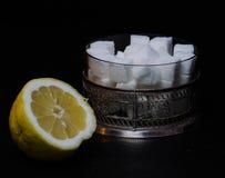Citron och socker Royaltyfri Foto