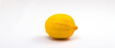 Citron på vit Royaltyfria Bilder