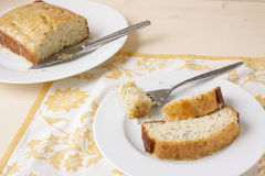 Citron Poppy Seed Bread Arkivfoton
