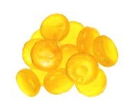 Citron smaksatte hostadroppar Royaltyfri Bild