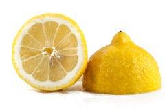 Citron som är halv, ingrediens, natur, fruktsaft, Royaltyfria Bilder