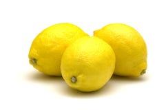 Citron sur le fond blanc Photos stock