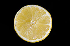 Citron sur le noir Photos stock
