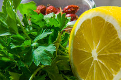 Citron, verts et hanches en gros plan Photo stock