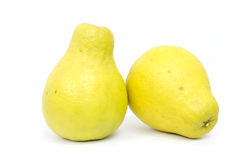 Citron with white background Royalty Free Stock Photo