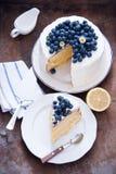 Citronblåbärkaka Royaltyfri Bild