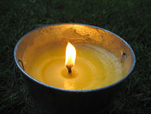 Citronella bucket candle Royalty Free Stock Photo