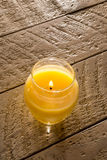 Citronella Candle on Table Royalty Free Stock Photography