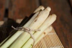 Citronella sulla stuoia di bambù Fotografia Stock Libera da Diritti
