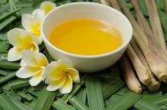 Citronellaolieolie voor kuuroord royalty-vrije stock foto's