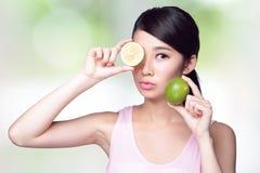 Citronen är stor för hälsa Royaltyfri Fotografi