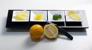 Citronen lappar Fotografering för Bildbyråer