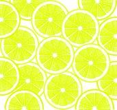 Citronen skivar bakgrundsdesign Royaltyfri Foto