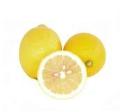 Citroner med vit backgroun royaltyfri illustrationer