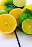 Citroner och limefrukt Royaltyfri Fotografi