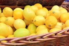 Citroner på försäljning Arkivbilder
